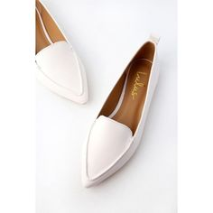 2760b18cd28 Lulus Emmy White Pointed Loafers ( 25) ❤ liked on Polyvore featuring shoes
