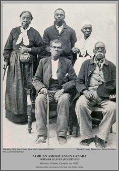 Former slaves in Canada