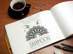 Boceto de La Mottora para Sari Moon, profesora de danza oriental.