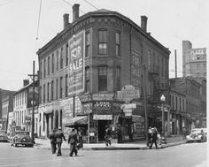 Joseph's Jewelry & Loan Co., located in this three-story brick landmark in 1939.This building used to sit on the northwest point of Indiana Avenue and Ohio Street, the current location of the plaza in front of the AUL Building at Illinois and Ohio streets. Photo by unknown Indianapolis Star photographer, March 20, 1939