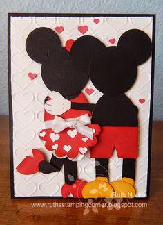 Ruth's Stamping Corner: Mickey and Minnie Love