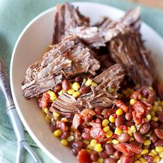 The flavors in this Cowboy Beef recipe cannot be beat! Get the full recipe here: http://www.bhg.com/recipes/slow-cooker/5-ingredient-slow-cooker-recipes/?socsrc=bhgpin091414cowboybeef&page=3