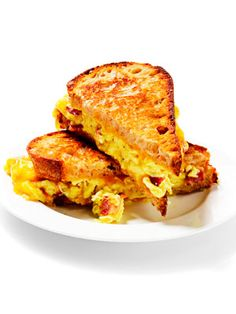 Griddled Egg-and-Bacon Sandwich