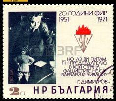 Dimitrov: BULGARIA - CIRCA 1971  A Stamp printed in the Bulgaria  Editorial