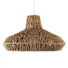 Natural pendant shade Industrial Ceiling Lights, Ceiling Pendant, Pendant Lamp, Pendant Lights, Modern Bedroom Lighting, Glass Pendant Shades, Ceiling Light Shades, Bedroom Light Shades, Bohemian Interior
