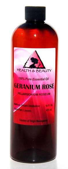 Geranium Rose Essential Oil Aromatherapy 100 Pure 32 oz ** Check out this great product. Basil Essential Oil, Geranium Essential Oil, Essential Oil Scents, 100 Pure Essential Oils, Steam Distillation, Organic Soap, Geraniums, Aromatherapy, Peppermint