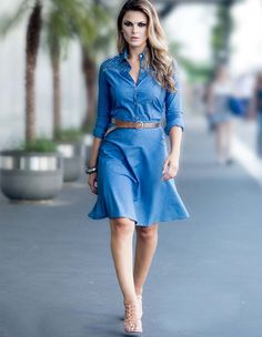 Jean dress is always good to have!