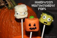 31 Days of Halloween: Halloween Marshmallow Pops