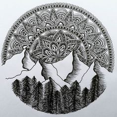 Horn Cap You are in the right place about cute Mandala Drawing Here we offer you the most beautiful Doodle Art Drawing, Zentangle Drawings, Mandala Drawing, Pencil Art Drawings, Art Drawings Sketches, Zentangle Patterns, Doodles Zentangles, Doodle Patterns, Zen Doodle