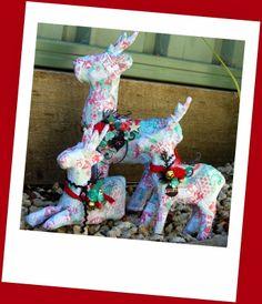 Christmas Reindeer. Pastiche Scrapbook Studio. Fiona Paltridge