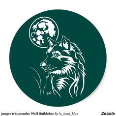 junger träumender Wolf Aufkleber Wolf, Wolves, Decals, Guys, Animals, Photo Illustration