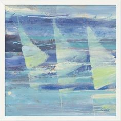 "East Urban Home 'Summer Sail I' Print Format: White Cube Framed Canvas, Matte Color: No Matte, Size: 32.5"" H x 32.5"" W"