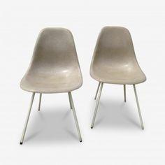 Ensemble de deux Chaises Vintage, Modèle DSX-1, par Charles et Ray Eames pour Herman Miller  à retrouver sur Kolectiv Design