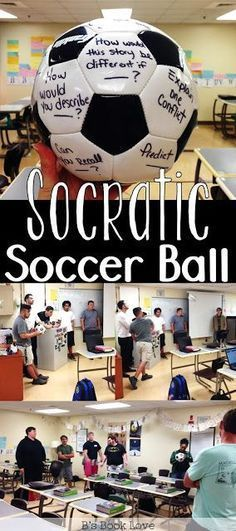 Socratic Soccer Ball! A fun English Language Arts game and active way to do Socratic Seminars #socceressentials