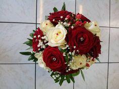 bouquet de roses blanches et rouges - Recherche Google