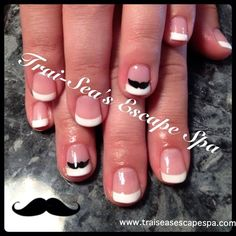Moustache Manicure by TraiSeasEscape - Nail Art Gallery nailartgallery.nailsmag.com by Nails Magazine www.nailsmag.com #nailart