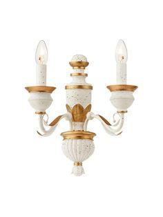 ISADORA Redo - nástenná lampa - bielo-zlatý kov+živica