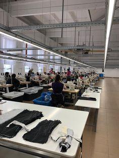 Garment factory from LinkedIn Sewing Room Storage, Sewing Room Design, Sewing Studio, Sewing Rooms, Studio Room, Dream Studio, Barber Shop Interior, Design Studio Office, Garment Manufacturing