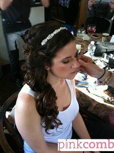#brunette #hairclip #alldown #curls #hair #newjersey #styles #njbride #hairstylist #weddinghairdresser #hairideas #beforeandafter #wedding #weddinghair #updo #extensions #hairdo #bride #beautifulhair #westfield #weddingdaybeauty #trialstyle #hairtrial #pinkcombbeauty #pinkcombstudio