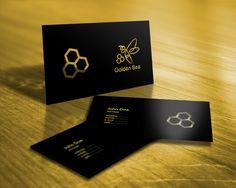 """Айлин Хакова Графичен Дизайн: Лого дизайн за """"Golden Bee"""" продукти за хранит. фирма Fine Food Land -авторски права запазени ( спечелен конкурсен проект от 99designs) / Logo design for """"Golden bee"""" products for Fine Food Land company - Copyright reserved, (99designs winning contest project)"""