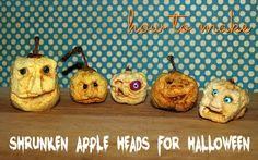 Shrunken Apple Heads Ingredients 1/2 cup lemon juice 2 tbsp salt 1 cup water 8 firm apples (any variety)