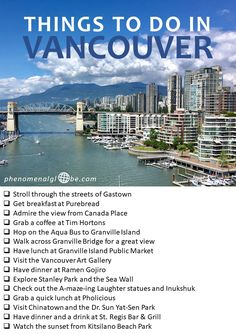 Explore beautiful British Columbia in 10 days Things to do in Vancouver, British Columbia, Canada. The ultimate city trip guide to Vancouver, including top things to see and do, where to eat and where to stay! Vancouver Vacation, Vancouver Travel, Vancouver City, Granville Island Vancouver, Vancouver Island, Vancouver Chinatown, Vancouver Style, Stanley Park Vancouver, Visit Vancouver