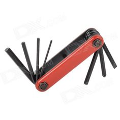 22048 Compact 7-in-1 Durable Steel Repairing Tool Kit for Bicycle - Black   Red Price: $6.00