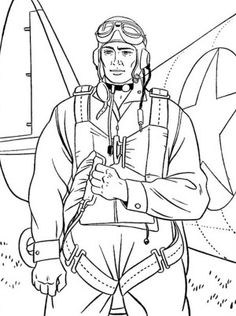 US Airbone On Duty Veterans Day Coloring Page