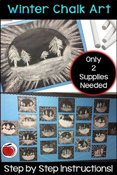 Are you looking for an art project that does not require a lot of supplies? For this winter art project you only need white chalk and… Winter Art Projects, Winter Project, Easy Art Projects, Easy Fall Crafts, Winter Crafts For Kids, Iphone Cover, Oil Pastel Techniques, Sunflower Crafts, Middle School Art Projects