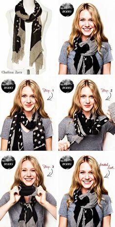 Как красиво завязать шарф Стиль Бохо