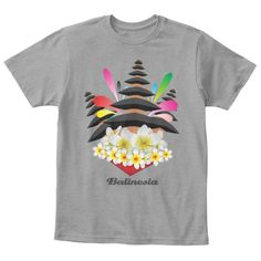 Balinesia Light Heather Grey  T-Shirt Front