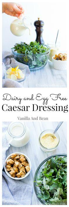 Vegan Caesar Dressing with Kale and Vegan Parmesan   Vanilla And Bean