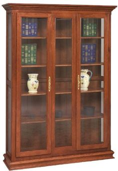 Custom Amish Double Door Picture Frame Deluxe Bookcase 73 High X 52 Wide