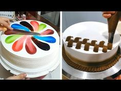 Most Satisfying Chocolate Cake Decorating 😍 How to Make Chocolate Cake Recipes 😱 So Yummy How To Make Chocolate Cake Recipe, Tasty Chocolate Cake, Chocolate Chip Recipes, Chocolate Chips, Cake Decorating Videos, Cake Decorating Techniques, Cookie Decorating, Decoration Patisserie, Barbie Cake