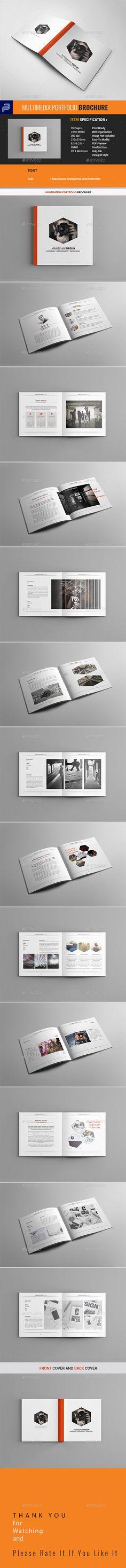 Multimedia Portfolio Brochure #corporate #indesign  • Download here → https://graphicriver.net/item/multimedia-portfolio-brochure/21242762?ref=pxcr