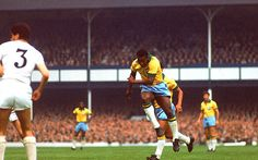 Pelé at Goodison Park, 1966 World Cup. Fifa, Brazil Team, Brazil Brazil, 1966 World Cup Final, Goodison Park, Everton Fc, Olympic Athletes, Team Player, Videos Funny