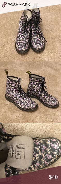 Doctor Marten 1460 Women's 1460 lace up boot. Size 8 women's. Some wear on the front toes. Smoke/pet free home. Dr. Martens Shoes Lace Up Boots