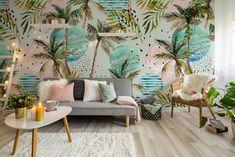 Interior Tropical, Tropical Bedroom Decor, Romantic Bedroom Decor, Tropical Bedrooms, Tropical Decor, Tropical Design, Tropical Colors, Modern Tropical, Living Room Designs