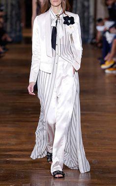 Shawl Collar Short Satin Jacket by LANVIN for Preorder on Moda Operandi