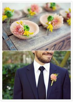 I like the salmonly pink, and bright yellow against the navy blue of the suit! Its not too pink but gives a pop of color-ss