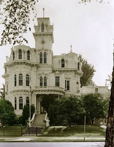 white Victorian house
