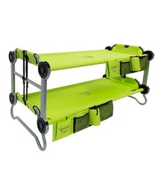 Camper Makeover Discover Kid-O Lime Green Kids Cot Bunk Bed Camping Table, Camping List, Camping Games, Camping Checklist, Camping Essentials, Camping Equipment, Tent Camping, Camping Gear, Outdoor Camping