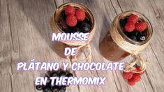#MOUSSE DE PLATANO Y CHOCOLATE EN #THERMOMIX #thermomixrecipes  #mousse #vegan #dessert