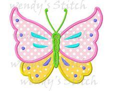 Diseño de bordado la máquina mariposa apliques por WendysStitch