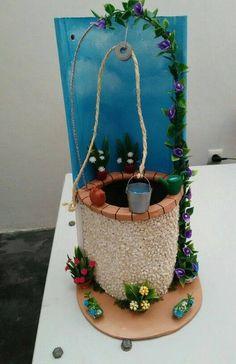 Foto de 10 ideas. Stone Crafts, Rock Crafts, Diy And Crafts, Crafts For Kids, Arts And Crafts, Bottle Art, Bottle Crafts, Art N Craft, Mural Art