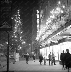 1968,Neon from store Dunaj, Bratislava,Czechoslovakia
