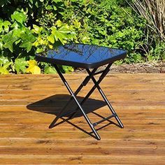 Kingfisher Folding Drinks Side Patio Table for sale online Small Garden Table And Chairs, Small Garden Coffee Table, Round Garden Table, Square Patio Table, Wooden Garden Table, Patio Side Table, Side Garden, Glass Top Side Table, Glass Dining Table