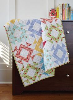ll you need is six prints and two accent fat quarters to make the Hidden Gems baby quilt for the little gem in your life. Doris Brunnette designed th