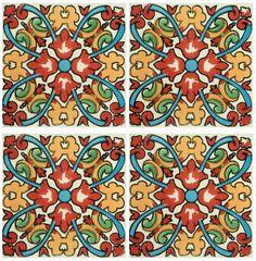 Decorative Mexican Tiles Elegant Color Combination With Mexican Tilekristi Black