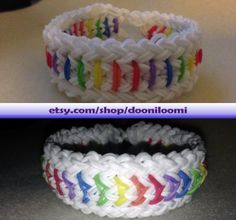 Colorful Thick Weave Braid Sold And Jelly by DooniLoomi on Etsy